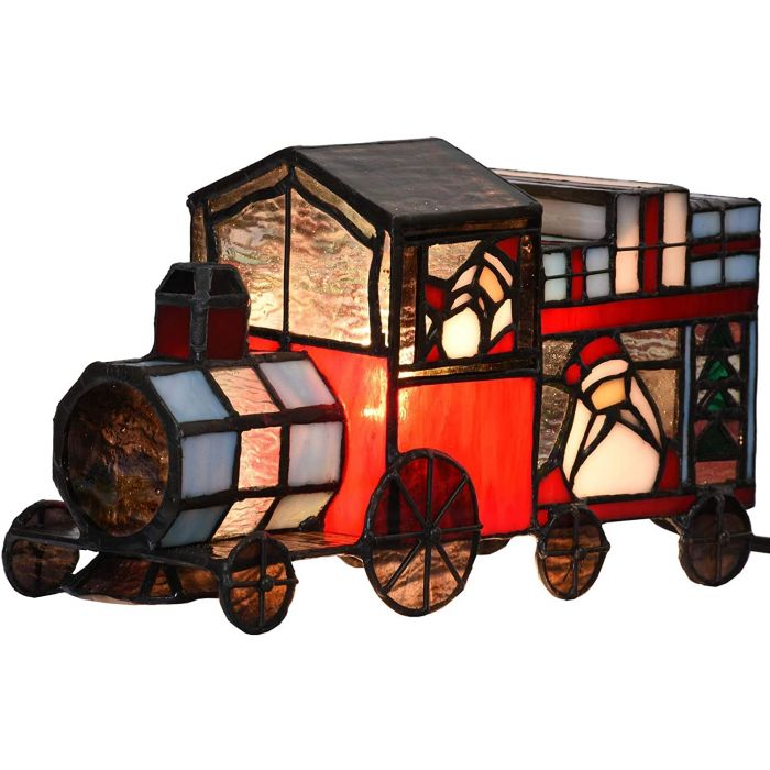 Style Stained Glass Lamps, Train Table Lamp