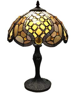 "Bieye L10817 Baroque Tiffany Style Stained Glass Table Lamp, 12""W x 18""H"
