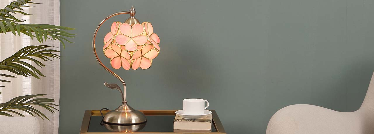 BIEYE Cherry Blossom Table Lamp